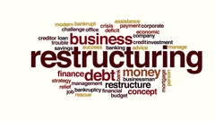 Restructuring animated word cloud. Stock Footage