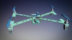 Drone concept design DIY Stock Footage