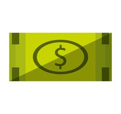 Bill money dollar isolated icon Stock Illustration
