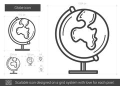 Globe line icon Stock Illustration
