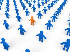 Standing out in the crowd Stock Illustration