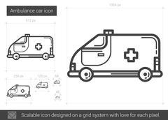 Ambulance car line icon Stock Illustration