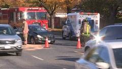 Car crash accident scene Stock Footage