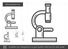 Microscope line icon Piirros