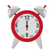 Alarm clock isolated icon Stock Illustration