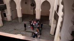 University of al-Qarawiyyin - October 1st, 2015 Fez, Morocco Stock Footage