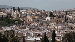 Rooftop view of Medina in Fez, Morocco Stock Footage