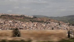 View of Medina of Fez by car Stock Footage