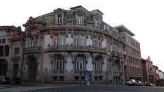 Beautiful building in Porto, Portugal Stock Footage