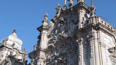 Carmo church-  Porto, Portugal Stock Footage