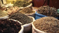 Assortment of spices Stock Footage