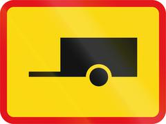 Temporary road sign used in the African country of Botswana - The primary sig Stock Illustration