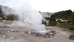 Furnas hot springs Stock Footage