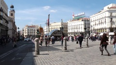 Plaza del Callao Stock Footage