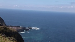 Beautiful rocky cliffs - Sao Miguel Stock Footage