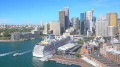 Circular Quay in Sydney CBD in daytime Stock Footage