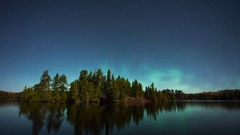 Boundary Waters Northern Lights Stock Footage