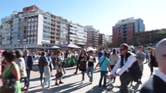 Establishing shot Plaza de Toras Madrid Spain bullfight arena s2 pan.mp4 Stock Footage