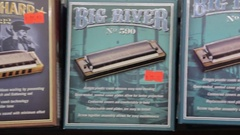 Blues harmonica pan Stock Footage