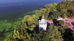 Monastic island. Church. Dnepropetrovsk Stock Footage