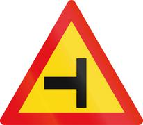 Temporary road sign used in the African country of Botswana - Side road junct Stock Illustration
