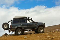 Climbing to active volcano Mutnovsky on Kamchatka Stock Photos