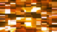 Twinkling Horizontal Small Squared Hi-Tech Bars, Orange, Abstract, Loop, 4K Stock Footage