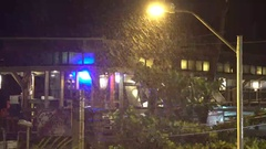 Rain Pours Down At Night As Tropical Storm Hits Stock Footage