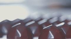 Closeup of sweet milk chocolates in form of diamond Stock Footage