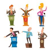 Politicians people vector set. Stock Illustration