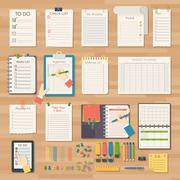 Agenda business notes vector Stock Illustration