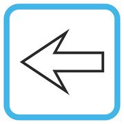 Arrow Left Glyph Icon In a Frame Stock Illustration