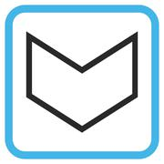Arrowhead Down Glyph Icon In a Frame Stock Illustration