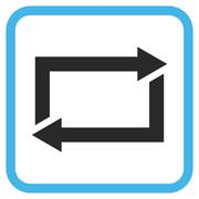 Exchange Arrows Glyph Icon In a Frame Stock Illustration