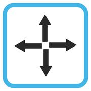 Expand Arrows Glyph Icon In a Frame Stock Illustration