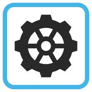 Gear Glyph Icon In a Frame Stock Illustration