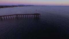 Aerial View of Ventura Beach pier Stock Footage