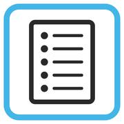 List Page Glyph Icon In a Frame Stock Illustration