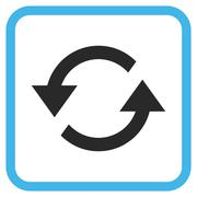 Refresh Arrows Glyph Icon In a Frame Stock Illustration