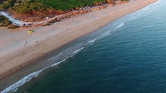 Aeria view of the Lagoa Beach Quarteira Stock Footage