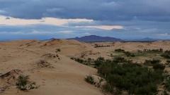 Sunset over the Gobi desert, Mongolia. Full HD Stock Footage