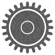 Cogwheel Grainy Texture Icon Stock Illustration
