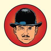Retro European sleuth spy or detective Piirros