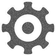 Gear Grainy Texture Icon Stock Illustration