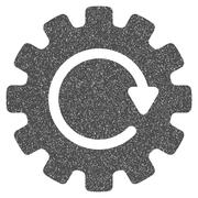 Gearwheel Rotation Grainy Texture Icon Stock Illustration