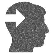 Head Plug-In Arrow Grainy Texture Icon Stock Illustration