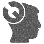 Head Surgery Wrench Grainy Texture Icon Stock Illustration