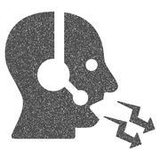 Operator Shout Grainy Texture Icon Stock Illustration