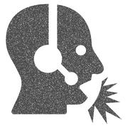 Operator Speech Grainy Texture Icon Stock Illustration