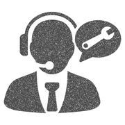 Service Manager Message Grainy Texture Icon Stock Illustration